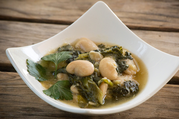 """Spirit Rock """"Beans and Greens"""": Gigante Beans and Escarole"""