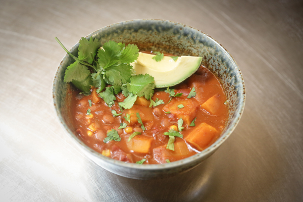 Pinquito Bean Chili with Butternut Squash
